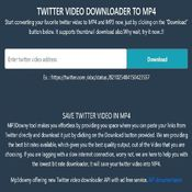 Twitter video downloader mp4