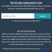 Twitter video downloader mp4