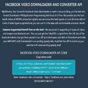 Facebook video downloader MP4